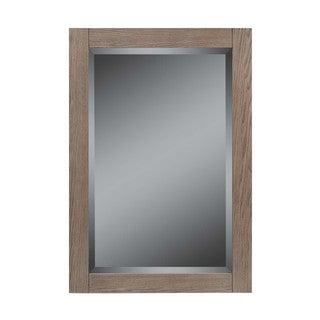 22-In Strabury mirror, Weathered Oak Finish
