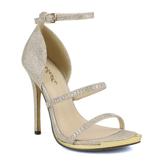 Celeste Queeny-04Skinny Ankle Strap Women's Dress Sandals