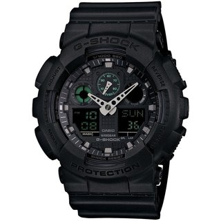 Casio G-Shock Men's GA100MB-1ACR Analog-Digital Dial Black Resin Watch