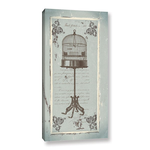 ArtWall Jo Moulton's French Birdcage, Gallery Wrapped Canvas