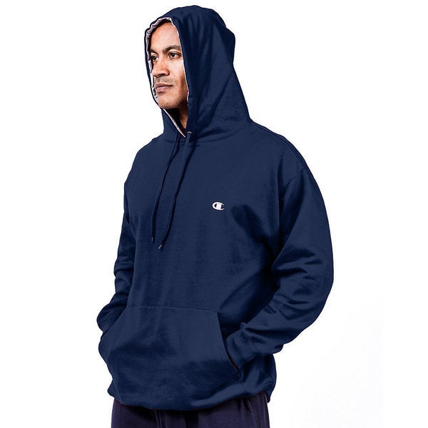 Champion Big and Tall Men's Pullover Fleece Hoodie with Contrast Liner (As Is Item)