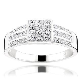Luxurman 14k Gold 1 3/4ct TDW Round Diamond Ring (G-H, VS1-VS2)
