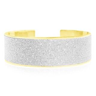 Dust Cuff Bangle Bracelet, Gold Overlay