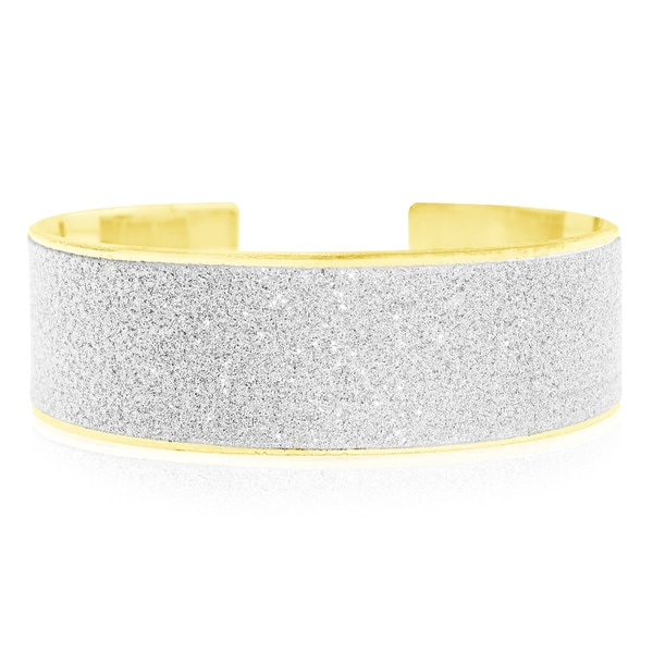 Swarovski Elements Dust Cuff Bangle Bracelet, Gold Overlay