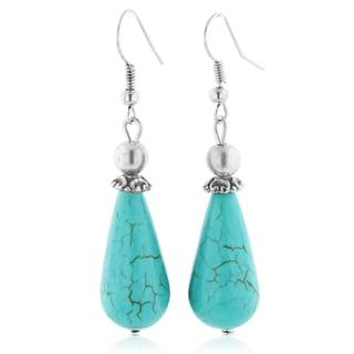 Trendy Turquoise Teardrop Earrings