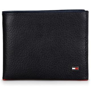 Tommy Hilfiger Men's Genuine Leather Pebbled Passcase Wallet