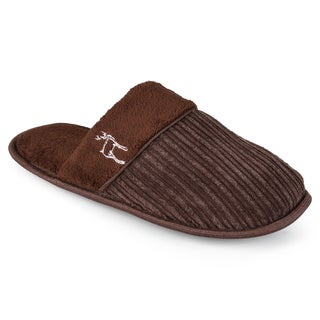 Vance Co. Men's Backless Textured Slippers