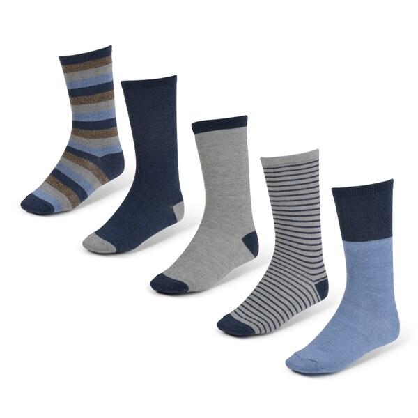 Vance Co. Men's Marled 5 pk Crew Socks