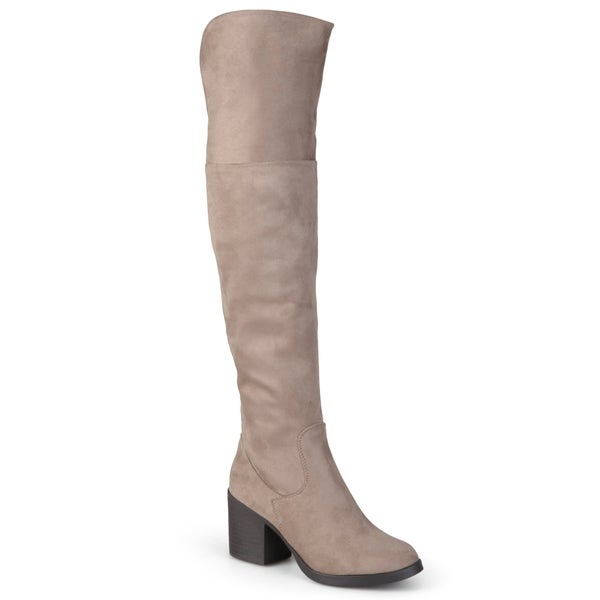 Journee Collection Women's 'Victoria-01' Heeled Over-the-knee Boots