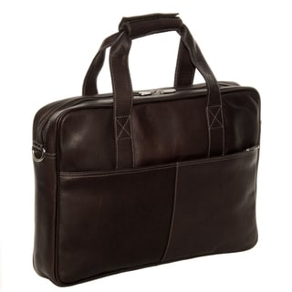 Piel Leather Top-Zip Portfolio Briefcase