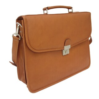 Piel Leather Four Step-Down Portfolio Briefcase