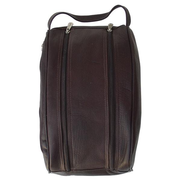Piel Leather Double Compartment Shoe Bag