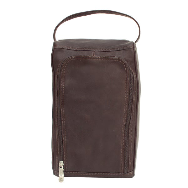 Piel Leather U-Zip Shoe Bag