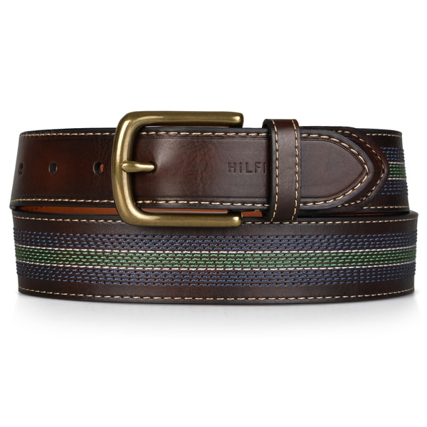 Tommy Hilfiger Men's Stitch Detail Handcrafted Belt