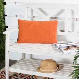 Safavieh Soleil Solid Indoor/ Outdoor Tropical Orange 12-inch x 20-inch Throw Pillows (Set of 2)