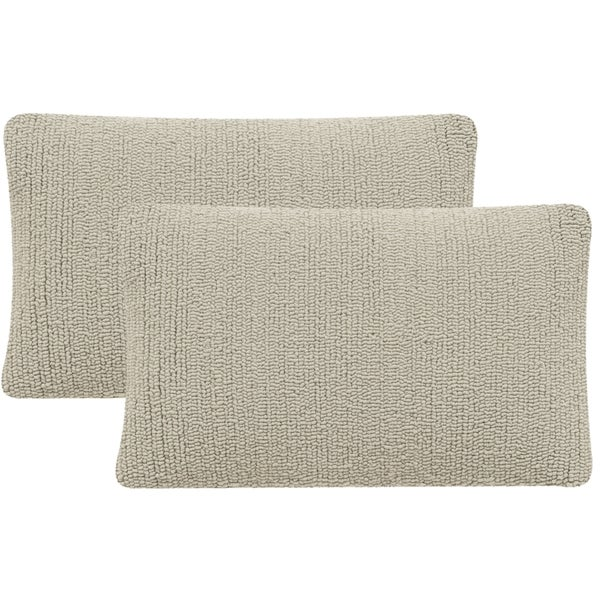 Safavieh Soleil Solid Indoor/ Outdoor Tropical Grey 12-inch x 20-inch Throw Pillows (Set of 2)