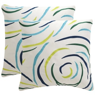 Safavieh Soleil Lollypop Indoor/ Outdoor Breezy Blue 20-inch Square Throw Pillows (Set of 2)