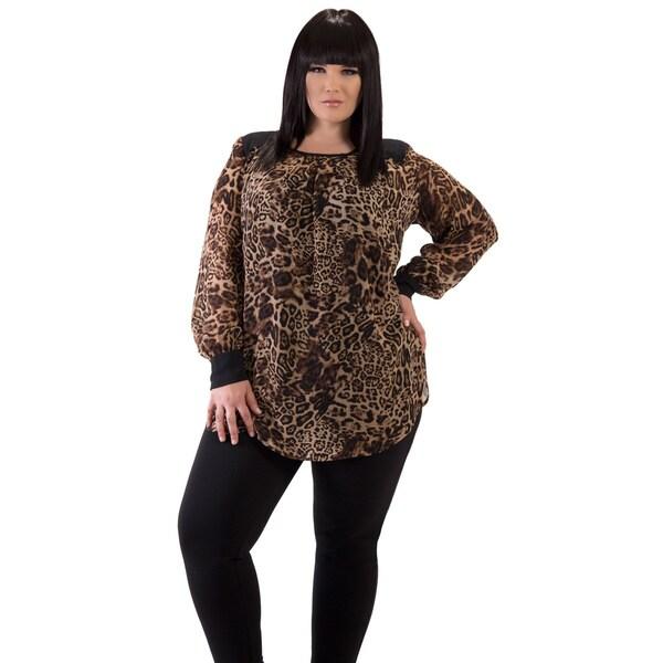 Women's Leopard Plus Size Tunic