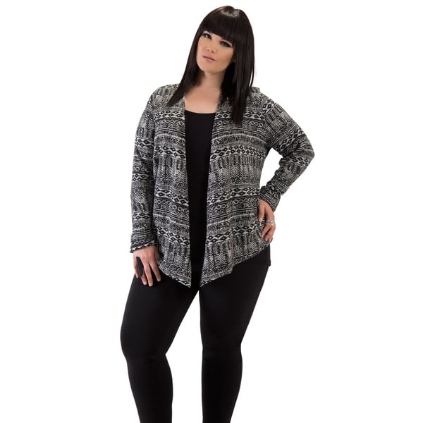 Women's Aztek Plus Size Cardigan