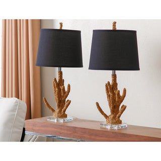 Abbyson Living Gold Coral Table Lamp (Set of 2)