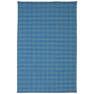 Indian Theory Blue Cotton Rug (3' x 5')