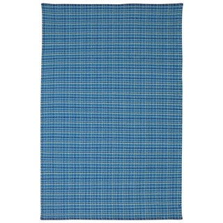 Indian Theory Blue Cotton Rug (4' x 6')