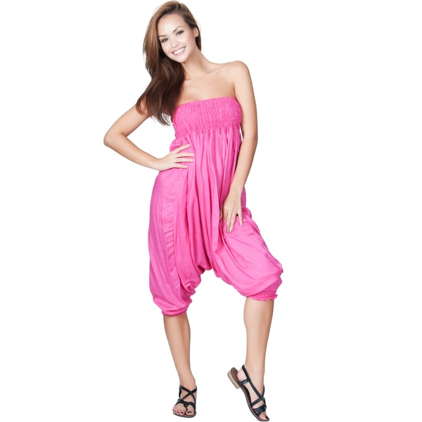 Koh Koh Women's Versatile One-Piece Jumpsuit/ Harem Pants
