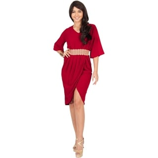 Koh Koh Women's Flutter Sleeve V-Neck Lace Embellished Mini Dress