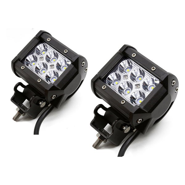 18W 4-Inch SPOT LED Light Work Bar Lamp for Driving Fog Off-road SUV, 4WD, Car, Truck (Set of 2)