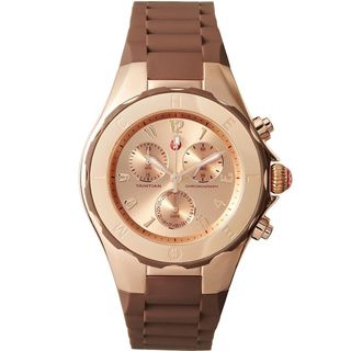 Michele Women's MWW12F000060 'Tahitian Jelly Bean' Chronograph Brown Rubber Watch