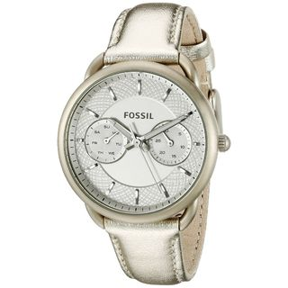 Fossil Women's ES3912 'Tailor' Multi-Function White Leather Watch