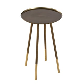 Old Gold and Brass Ferrule Leg Side Table