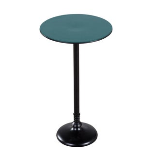 Teal and Black Pedestal Table (India)