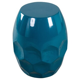 Teal Honeycomb Side Table (India)