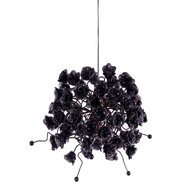 Black Rosettes Pendant Hanging Light 16974044