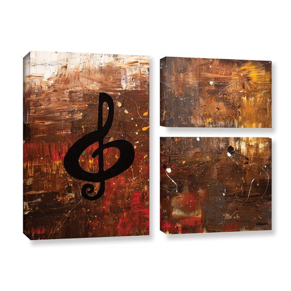 Carmen Guedez's Music For The Soul, 3 Piece Gallery Wrapped Canvas Flag Set