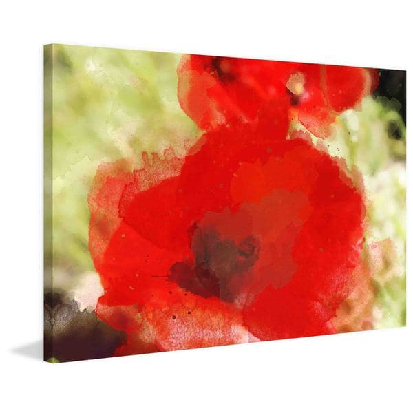 "Marmont Hill - ""Red Poppy"" by Irena Orlov Painting Print on Canvas"