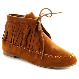 BOLARO BC5041 Women's Fringe Ankle Booties