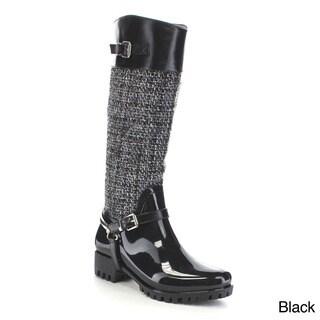 Beston AA71 Women's Sweater Waterproof Rain Boots