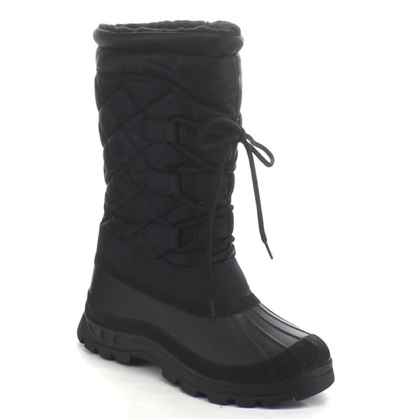 Beston CB39 Women's Quilted Lace Up Snow Boots