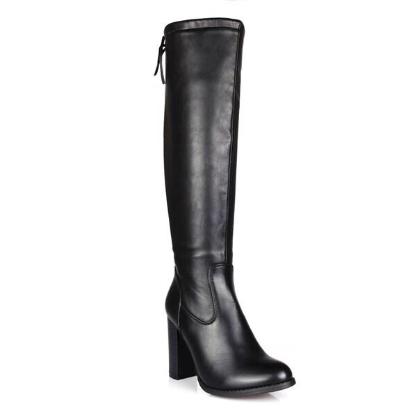 Fahrenheit Benson-06 Back Tie Women's Knee High Boots