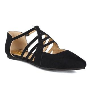 Fahrenheit Miriam-01 Stappy Pointy Toe d'Orsay Women's Flat