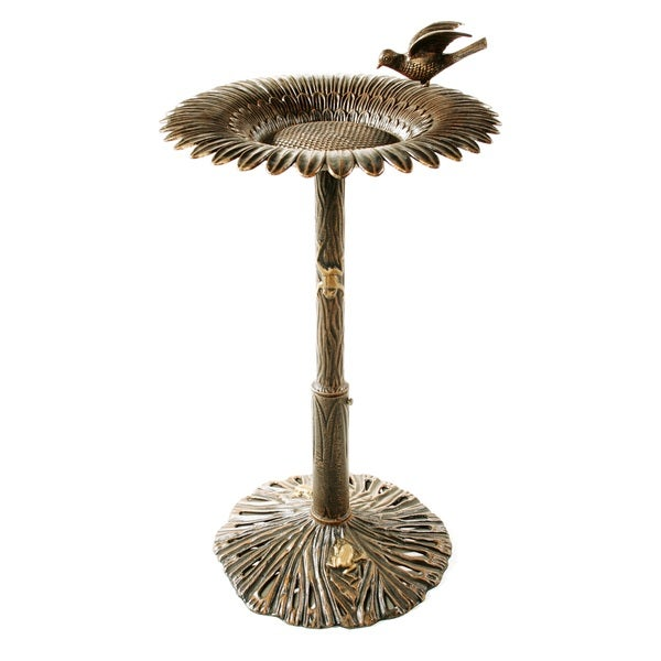 Premium Sunflower Bird Bath