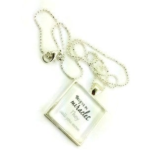 Mama Designs Handmade Glass Pendant Mom Miracle Necklace