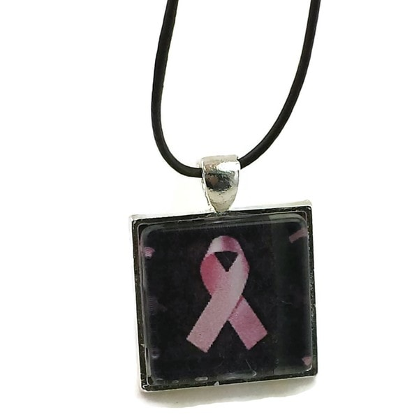 Mama Designs Pink Ribbon Breast Cancer Awareness Pendant Necklace 16976062