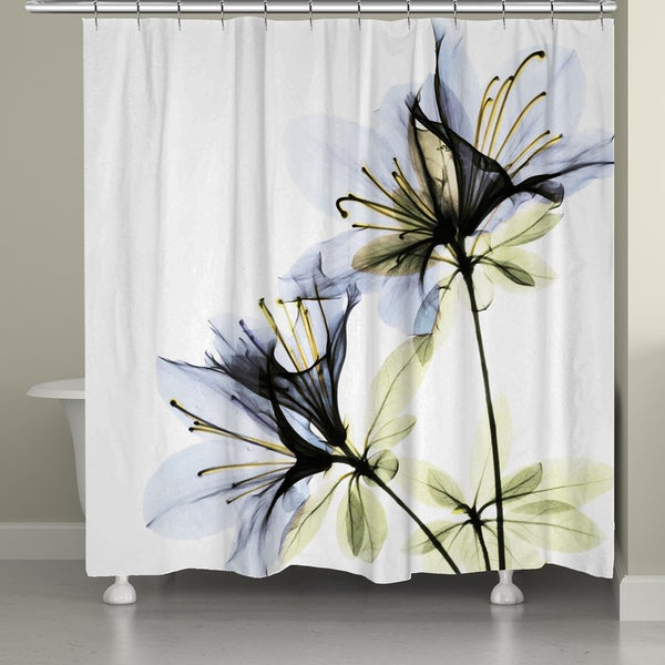 Laural Home X Ray Azalea Flower Shower Curtain 18013288 Shopping Great Deals
