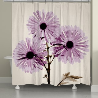 Laural Home X-Ray Chrysanthemum Flower Shower Curtain