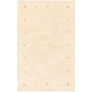 ecarpetgallery Kashkuli Gabbeh Beige Wool Rug (4'10 x 7'9)