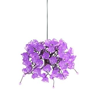 Lilac Rosettes Pendant Hanging Light