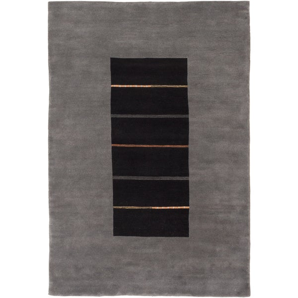 ecarpetgallery Kathmandu Grey Wool Rug (6'7 x 9'7)